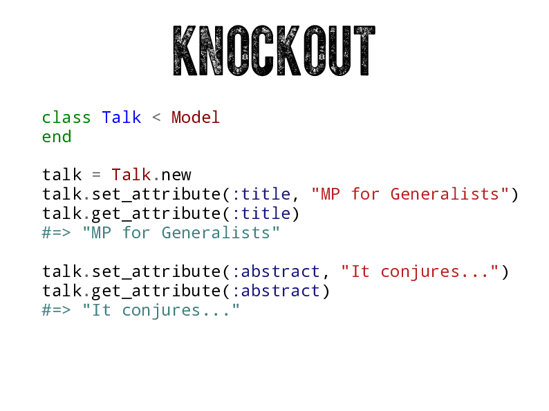 Knockout: Application View